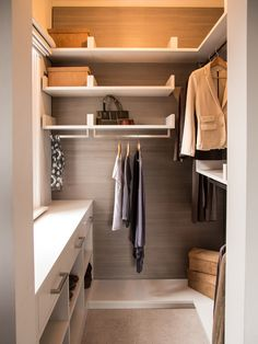 Master Closet Design Ideas pinterest closets are also huge draws on the website this popular walk in closet Small Walk In Closet Design Ideas Remodels Photos
