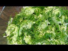 Surówka z młodej kapusty i ogórka - YouTube Lettuce, Herbs, Vegetables, Youtube, Food, Fried Cabbage Recipes, Chef Recipes, Cooking, Essen