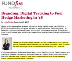 FundFire: Branding, Digital Tracking to Fuel Hedge Marketing in '18