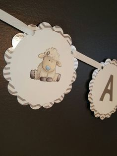 Lamb baby shower - lamb favors - lamb banner - lamb decorations - lamb party - lamb garland - little lamb baby - little lamb decorations by PaperStuff4u on Etsy https://www.etsy.com/listing/488218299/lamb-baby-shower-lamb-favors-lamb-banner