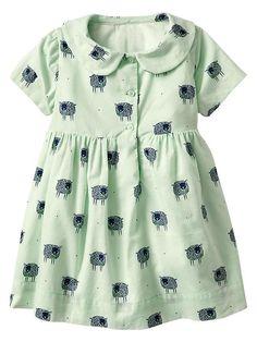 Sheep Peter Pan Dress - quince