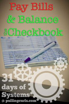 How to Track Your Finances. Learn how to keep track of bills and balance check book. #finances #checkbook