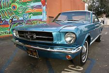 Ford : Mustang NO RESERVE 1965 mustang clean pony black plates power brakes bench seat restored 64 66