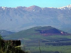 Mt. Hermon seen from Mt. Bental