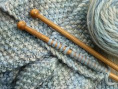 Soft and sweet knitting. Love that stitch!