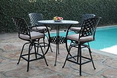 "Kawaii Collections Outdoor Patio 5 Piece Cast Aluminum 42"" Bar Table Set with 4 Swivel Bar Stool cbm1290 Bar Stool Table Set http://www.amazon.com/dp/B00THX78SS/ref=cm_sw_r_pi_dp_nHl6wb0XBX39V"