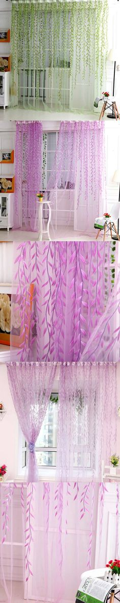 Best home decor draps sheer window curtains for living room the ...