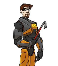 Half-Life: Gordon Freeman by cartoonjunkie