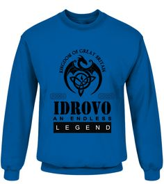 THE LEGEND OF THE ' IDROVO '  Funny Name Starting with I T-shirt, Best Name Starting with I T-shirt, my name t shirt, name t shirts for women, custom name shirt, t shirt with name, name shirt kids, name shirts for men
