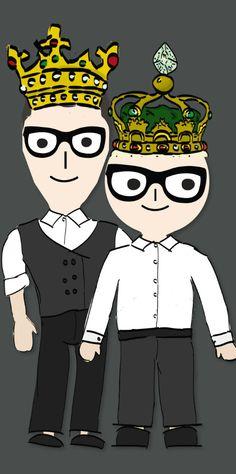 Cute! Dolce & Gabbana DG Family Characters wearing a King's Crown for Fall Winter 2017-18. #dolcegabbana #minime #girlsclothing #kidsfashion #fashionkids #girlsdresses #childrensclothing #girlsclothes #girlsfashion