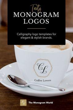 Wedding Logos, Monogram Wedding, Monogram Logo, Calligraphy Logo, Lettering, Free Typeface, Wine And Spirits, Luxury Hotels, Letter Logo
