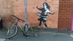 Banksy claims Nottingham hula-hooping girl artwork - BBC News Banksy, Nottingham, Hula Hoop, Street Art, Johnson Tsang, Wow Factor, Lifestyle News, Public Art, Surrealism