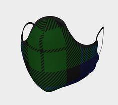 Black Watch Tartan Non-Medical Face Covering Poppy Pins, Royal Stewart Tartan, Up Shoes, Cool Socks, Navy Color, Face Shapes, Printed Cotton, Soft Fabrics, Medical