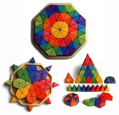 Grimm's Large Octagon Form Building Set - Wooden Mosaic Block Puzzle, 72 Triangles by Grimm's Spiel and Holz Design, $79.95 http://www.amazon.com/dp/B004OXYEMY/ref=cm_sw_r_pi_dp_3IwVqb1H5FDQC