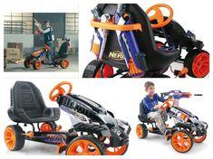 Go Kart For Kids Nerf Battle Racer Pedal Powered Ride On Outdoor 4 Wheeler Road