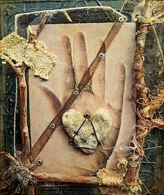 """Nina Bagley piece, """"hand book"""" cover, with a wonderful poem """"Journey"""" by Mary Oliver"""