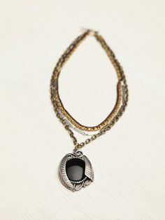 Free People Mixed Chain Drop Collar, $38.00