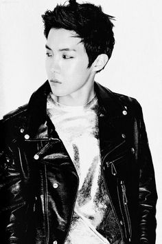 J-Hope looking hot with his black hair