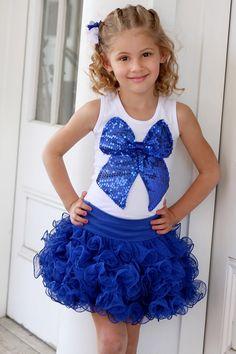 Twirl Royal Blue Swirly Skirt
