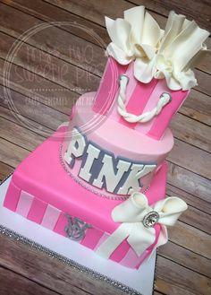 Victorias Secret inspired Sweet 16 Birthday cake