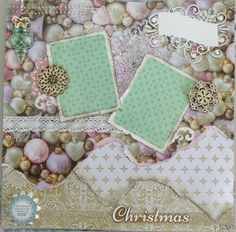 HumbleBee Books Kaisercraft Layout August workshop used the Christmas Wishes range from Kaisercraft. Here I used the paper pack, collectables, kaisercraft decorative dies, kaisercraft wooden embellishments, lace trim and glitter tape. Also used are some  kaisercraft captured moments cards from a previous range.