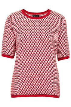 Knitted Textured T Shirt / topshop