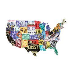 Road Trip U.S.A. Map | dotandbo.com
