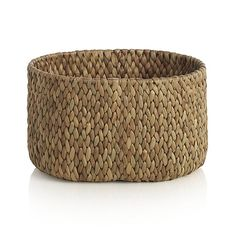 Water Hyacinth Small Oval Basket | Crate and Barrel