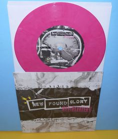 """NEW FOUND GLORY radiosurgery , giving up on me 7"""" Record PINK Vinyl #punk"""