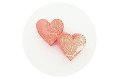 Home (Is Where The Heart Is) Earrings [Coral] by LANDI KUHN Functional Art & Design