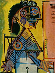 Pablo Picasso - Portrait of a Woman With a Green Collar (Marie-Therese Walter), 1938
