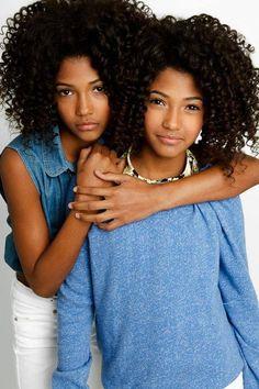 Natural hair twins