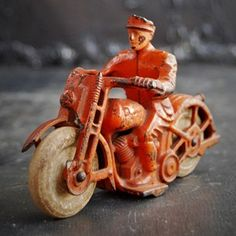 1930s Cast Iron Hubley Patrol Motorcycle - The Hoarde