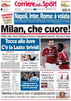 Inserire prime pagine giornali sportivi