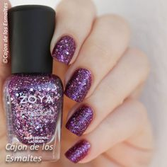 Zoya Thea nail polish purple sand glitter
