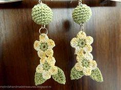 Melinda's Treasures: Pattern : Crochet Cute Flower Earrings