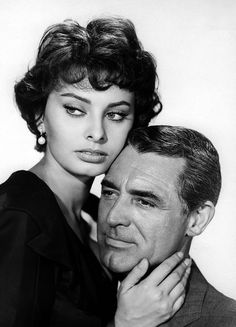 Sophia Loren and Cary Grant in a publicity still for Houseboat 1958.