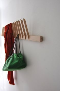 'Souffle' is an eco-friendly coat rack, made from recycled slats.