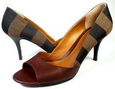 $560 FENDI SHOES 38.5 / Womens Sz 8.5 Classic Tobacco Brown Pumps *EXCELLENT*  #Fendi #PumpsClassics