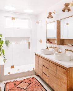 Beautiful master bathroom decor tips. Modern Farmhouse, Rustic Modern, Classic, light and airy bathroom design ideas. Bathroom makeover tips and master bathroom renovation some ideas. Bathroom Inspo, Bathroom Inspiration, Bathroom Ideas, Bohemian Bathroom, Bath Ideas, Simple Bathroom Designs, Relaxing Bathroom, Budget Bathroom, Bathroom Colors