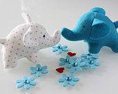Handmade Felt Softie Elephants