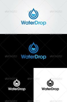 Water Drop Logo Template: Nature Green Logo Design Template by glaxa. Letterhead Template, Logo Design Template, Logo Templates, Water Drop Logo, Water Logo, Water Icon, Service Logo, Typo Logo, Green Logo