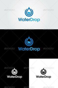 Water Drop Logo Template: Nature Green Logo Design Template by glaxa. Water Drop Logo, Water Logo, Logo Design Template, Logo Templates, Water Icon, Heating And Plumbing, Typo Logo, Service Logo, Green Logo