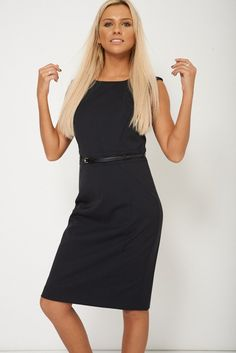 Fully Lined Fitted Dress With Textured Material