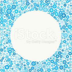 Circle on Blue Snowflake Background royalty-free stock vector art