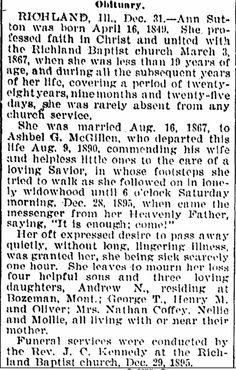 McGillen, Ann Sutton Obituary