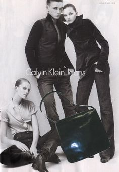CKJeans_large flap_leather shoulder bag