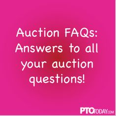 Answers to key questions about organizing and running a successful school auction. Parents Association, Pto Today, Silent Auction Baskets, Grant Writing, School Auction, Show Me The Money, Auction Ideas, Valley View, Fundraising Events