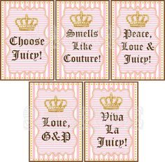 Juicy Couture party labels cute for teens!