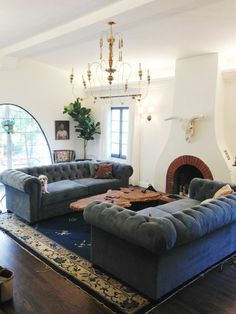 love this living room from emily henderson!  gorgeous sofas!